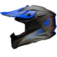 Casque Mt Helmets Falcon System D7 Bleu