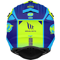 Mt Helmets Falcon System C3 Helmet Blue Yellow