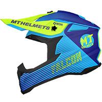 Casco Mt Helmets Falcon System C3 azul amarillo