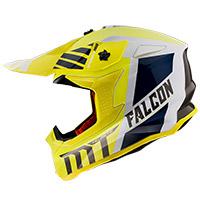 Casco Mt Helmets Falcon Warrior A3 amarillo
