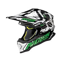 Nolan N53 Buccaneer Offroad Helmet White Green