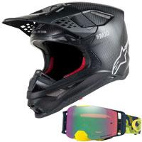 Casco Motocross Alpinestars S-m10 + Oakley Front