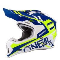 O'neal 2 Series Rl Spyde Helmet Blue Yellow Hi Viz