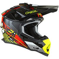 O Neal 2srs Rush V.22 Helmet Red Neon Yellow