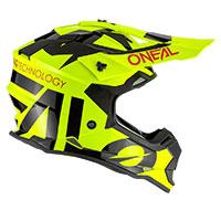 O Neal 2srs Youth Slick Helmet Neon Yellow Kinder