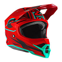 Casco O'neal 3srs Riff 2.0 Rosso Teal