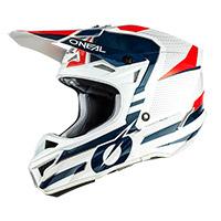 O Neal 5srs Polyacrylite Sleek Helmet Blue Red