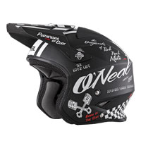 O'neal Slat Torment Helmet Black White