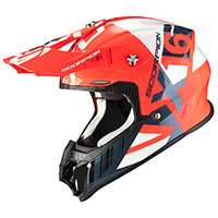 Casco Offroad Scorpion Vx-16 Mach Rosso Bianco
