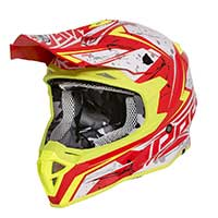 Premier Exige Qx Y Helmet Red Yellow Gray