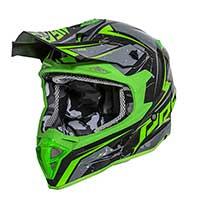 Premier Exige Qx Y casco verde gris