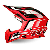 Progrip Ap71 Offroad Helmet Red White