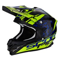 Scorpion Vx-15 Evo Air Kistune Nero-blu-giallo Fluo