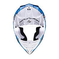 Casco Scorpion Vx-16 Air Gem Bianco Blu