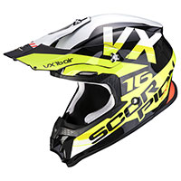 Casco Scorpion Vx-16 X Turn Nero Giallo Fluo