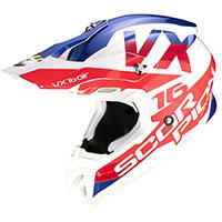 Casco Scorpion Vx-16 X Turn Bianco Rosso