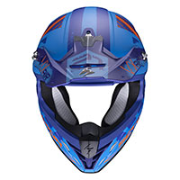 Casco Scorpion Vx-21 Air Urba azul naranja