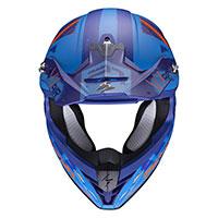 Casco Scorpion Vx-21 Air Urba Blu Arancio