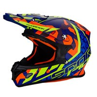 Scorpion Vx-21 Air Furio Blue Orange Fluo Yellow