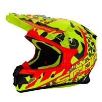 Scorpion Vx-21 Air Furio Fluo Yellow-red-silver