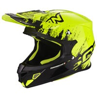 Scorpion Vx-21 Air Mudirt Nero-giallo Fluo