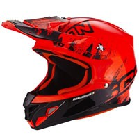 Scorpion Vx-21 Air Mudirt Black-fluo Red