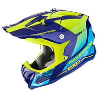 Casco Scorpion Vx-22 Air Attis Blu Giallo
