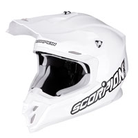 Casco Off Road Scorpion Vx-16 Solid Bianco