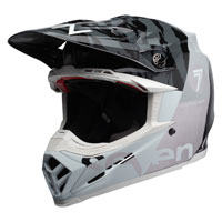 Bell Moto 9 Flex Carbon Seven Zone White