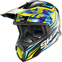Shark Varial Replica Tixier Helmet Blue Yellow