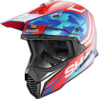 Shark Varial Replica Tixier Mat Helmet Red Blue