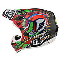 Troy Lee Designs SE4 Carbon Eyeball Casco rojo