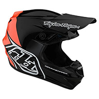 Casco Troy Lee Designs Gp Block Nero Arancio - 3