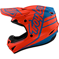 Troy Lee Designs Gp Silhouette Helmet Orange Cyan