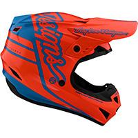 Casco Troy Lee Designs Gp Silhouette Arancio Cyan - 3