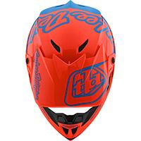 Casco Troy Lee Designs Gp Silhouette Arancio Cyan - 4