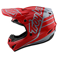 Troy Lee Designs Gp Silhouette Helmet Red Silver