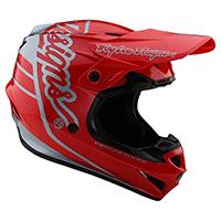 Casco Troy Lee Designs Gp Silhouette Rosso Argento - 3