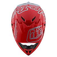 Casco Troy Lee Designs Gp Silhouette Rosso Argento - 4