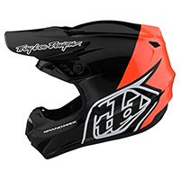 Troy Lee Designs Gp Block Youth Helmet Black Orange Kid