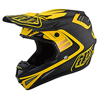 Casco Troy Lee Designs SE4 Carbon Flash amarillo