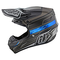 Casco Troy Lee Designs SE4 Carbon Speed ​​negro gris