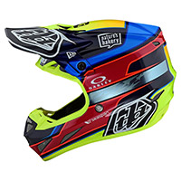Casco Troy Lee Designs SE4 Carbon Speed ​​Team azul