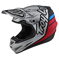 Troy Lee Designs SE4 Composite Silhouette plateado