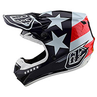 Troy Lee Designs Se4 Polyacrylite Freedom Helmet Blue
