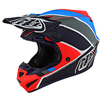 Troy Lee Designs SE4 Polyacrylite Skully Niño naranja