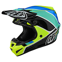 Troy Lee Designs SE4 Polyacrylite Beta Niño amarillo