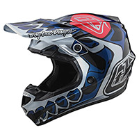 Troy Lee Designs SE4 Polyacrylite Skully Juventud plata