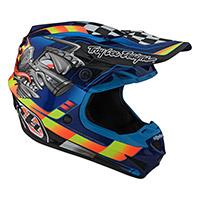 Troy Lee Designs Se4 Polyacrylite Carb Helmet Blue