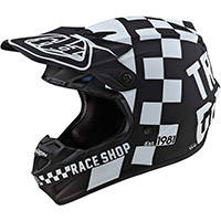 Troy Lee Designs Se4 Polyacrylite Checker Helmet Black